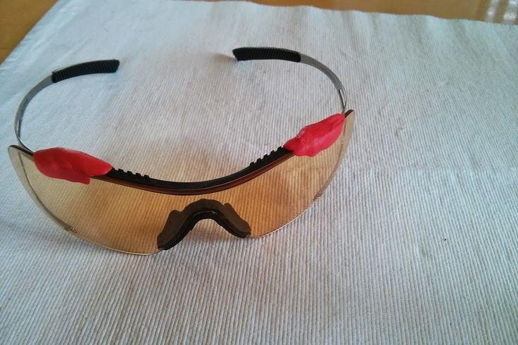 Repair broken cycling glasses My Bike glasses repaired with Sugru