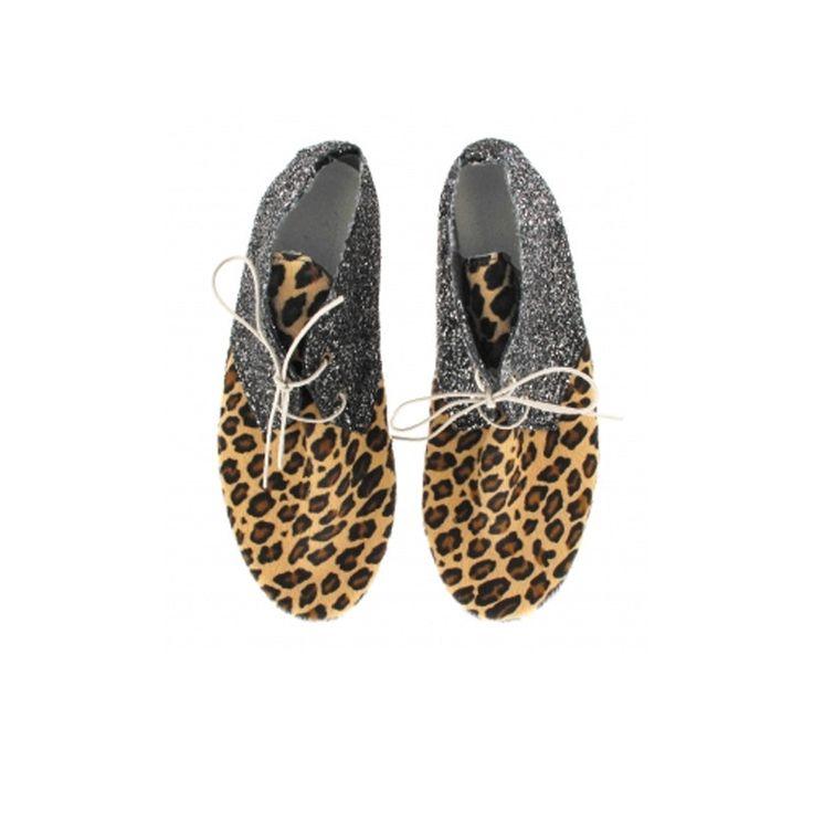 Anniel Derbies Leopard Silver Glitter - CLUXLM 2461 www.myfashiontribu.com