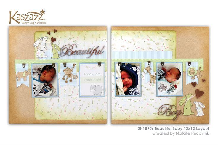 2H1895s Beautiful Baby 12x12 Layout