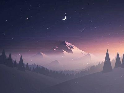 Dribbble - Mountain by MRusta