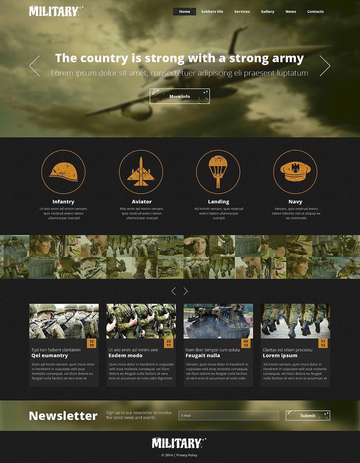 Army Responsive Website Template New Screenshots BIG