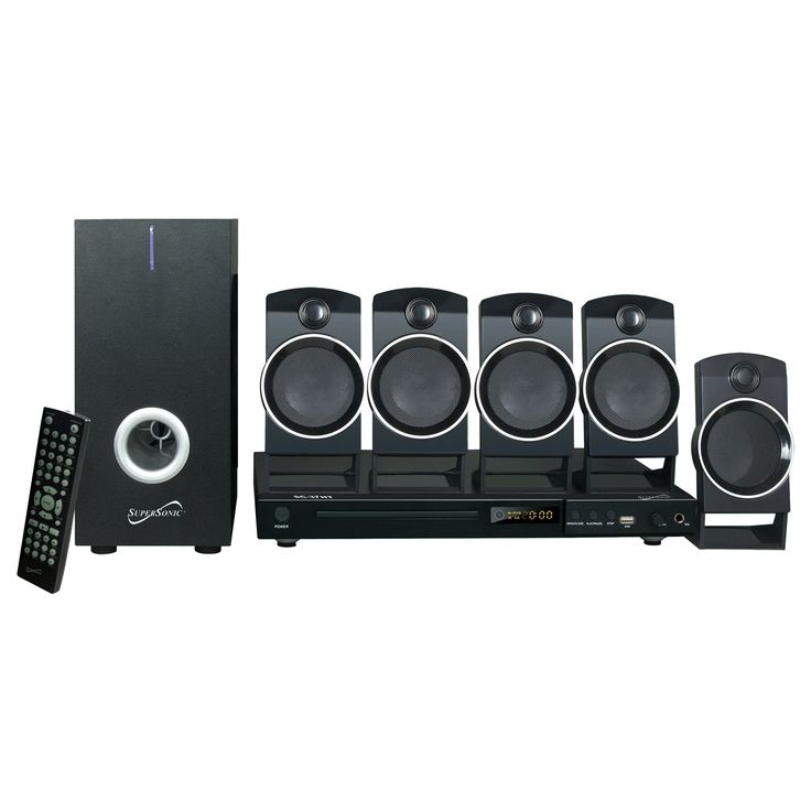 Supersonic 5.1 Channel DVD Home Theater System with USB Input & Karaoke Function #SC-37HT