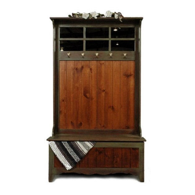Rustic olive-framed entryway hutch from Hayneedle.com - $620 - 8 Best Entryway Hutches Images On Pinterest Entryway Furniture