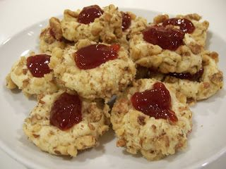 Every year we make these Thimble Cookies for Christmas. My husband's mother used make these all the time when he was growing up. When I met him