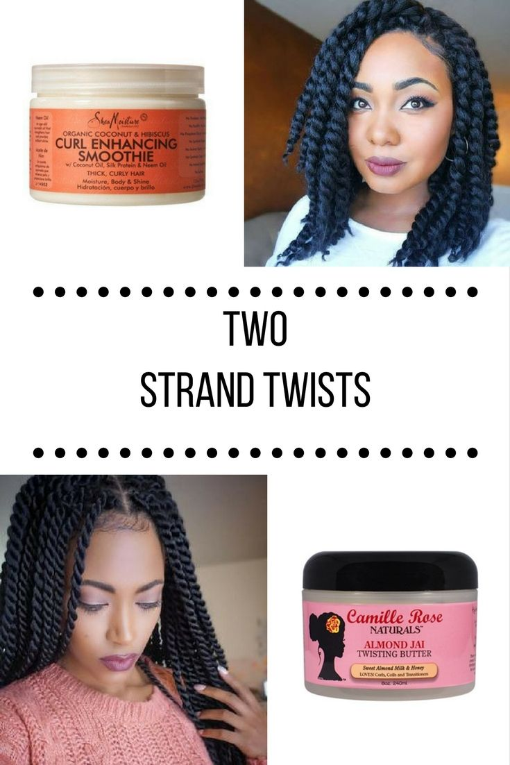 Two-strand Twists are a Protective Style that can help to Minimize Hair Damage