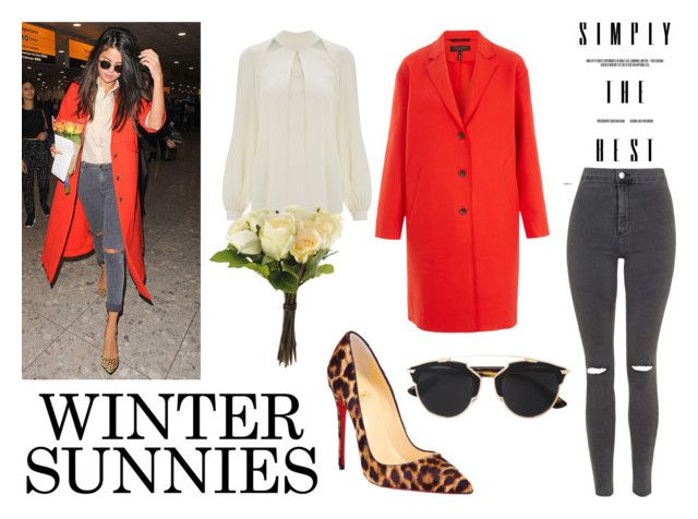 """Winter sunnies"" by madalina-elena-istrati on Polyvore featuring rag & bone, Temperley London, Christian Louboutin, Christian Dior, OKA, Topshop, Dior, selenagomez, topshop and christianlouboutin"