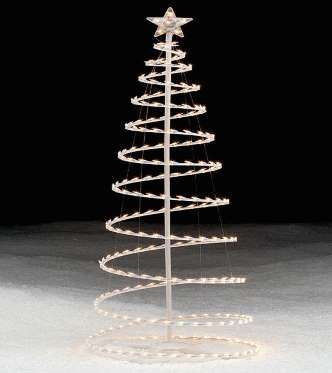 Rbol de navidad de espiral hecho con luces 34 en sears rbol navide o outdoor - Luces arbol de navidad ...
