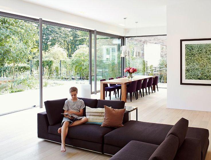 Die Besten 25+ Große Fenster Ideen Auf Pinterest | Fenstergrößen ... Wohnzimmer Grose Fensterfront