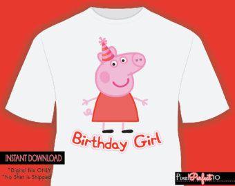 Peppa pig shirt, Peppa pig tshirt iron on transfer, Peppa pig birthday party, Peppa Pig birthday, printable, Papa Shirt, Digital File Only