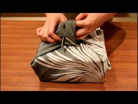 Japanese Furoshiki: How to wrap boxes - YouTube