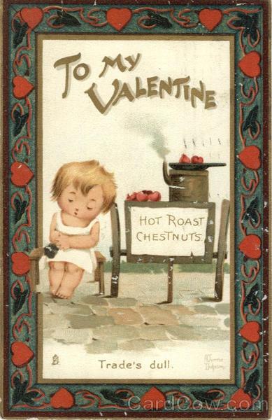 Valentine published postcards