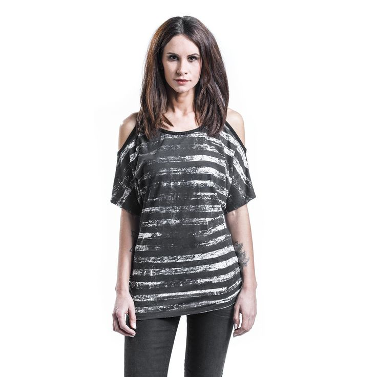 R.E.D. by EMP T-Shirt, Frauen »Black White Stripe« | · Basic OnlineEmo ...