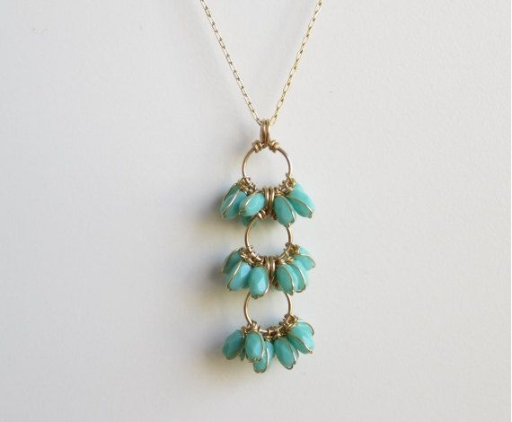 Long Necklace (look at the wire around the pearls!)
