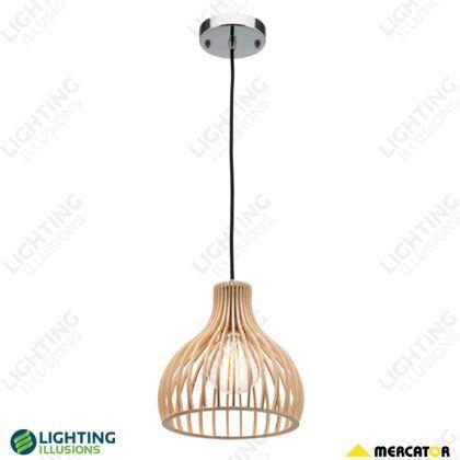 Small 23cm Treasure Natural Plywood Shade Pendant Light - Pendant Lighting - Lighting - Shop - Lighting Illusions Online
