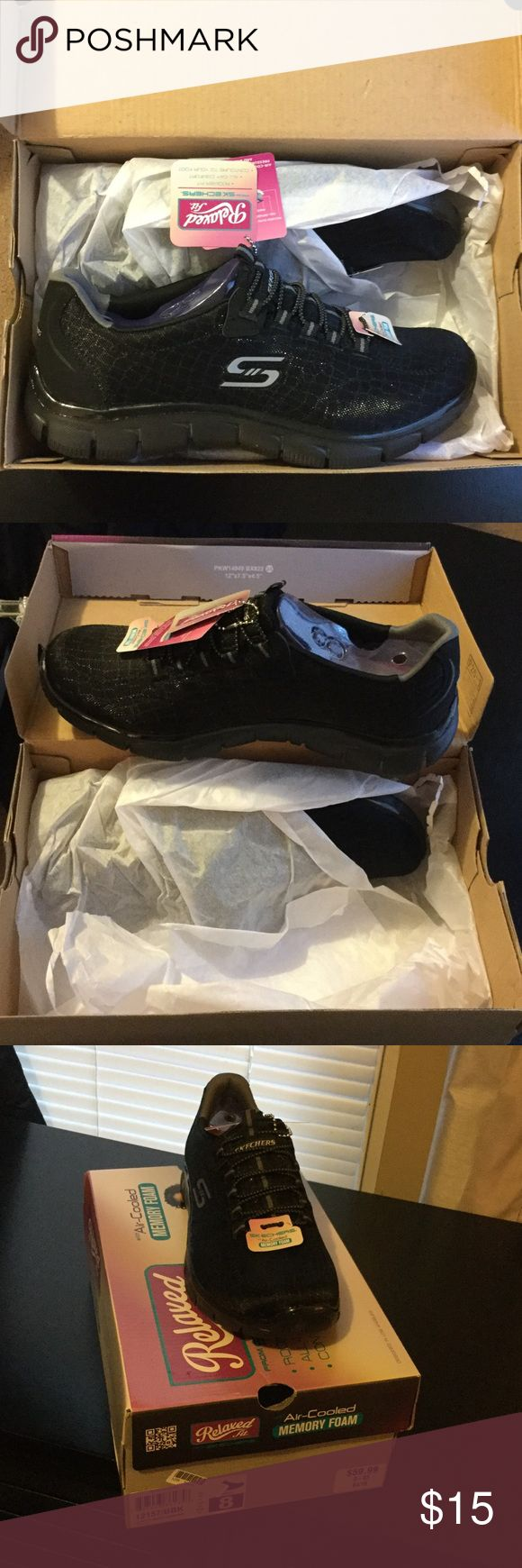 Cute BRAND NEW memory foam sketchers BRAND NEW IN BOX WITH TAGS. Never worn shoes. Size:8 Color: black Skechers Shoes Athletic Shoes