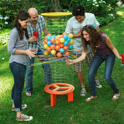 giant ker-plunk and several more DIY games -how fun!