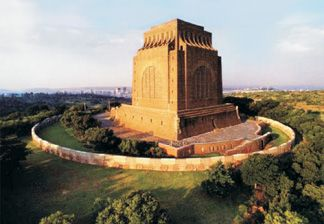 The Voortrekker Monument - actually a beautiful building in a beautiful location looking out over Pretoria. One can see all the way to Johannesburg, in fact. An architectural masterpiece. As an English-speaker it was never really our thing, until I saw it for real. Then I was much impressed.