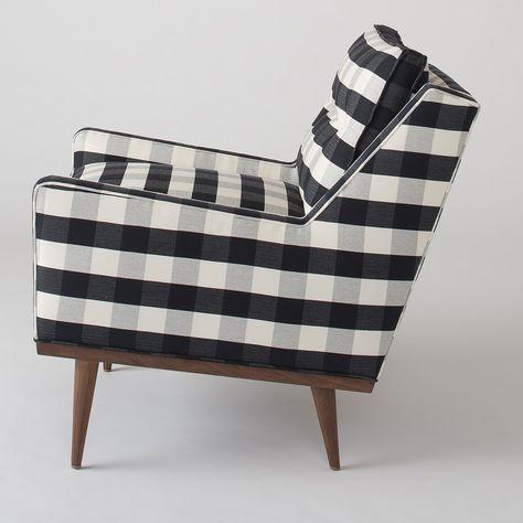 Plaid armchair. Looks kind of like Margie's chair