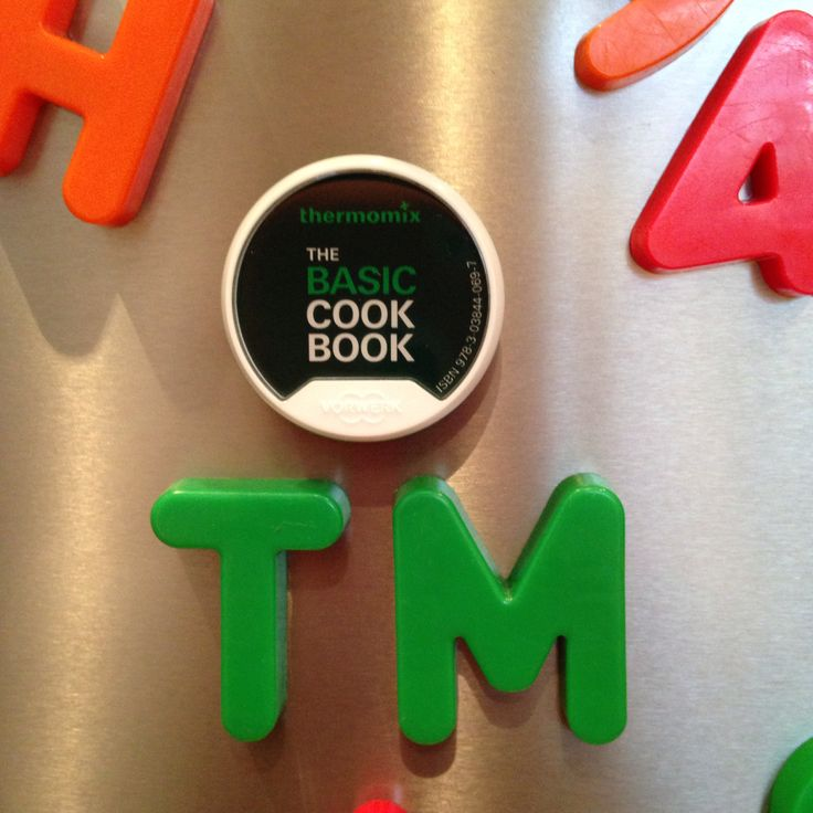 My Thermomix TM5 magnetic cookbook chip on my fridge...Shame I couldn't find a 5 magnet to go with the T & the M! If you're in Melbourne Australia and you'd like to know more about the new TM5 I'd love to demonstrate it to you, so send me a message.