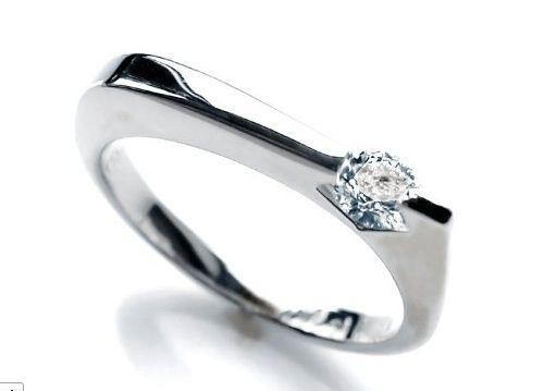 Gebruder Schaffrath white gold and diamond ring