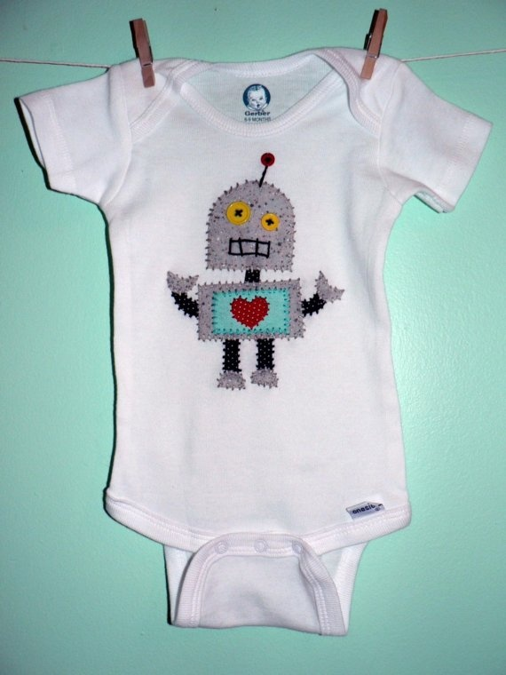 Robot Love. :)  So cute! I think Levi's first birthday might be robot themed....either robots or monsters, lol.