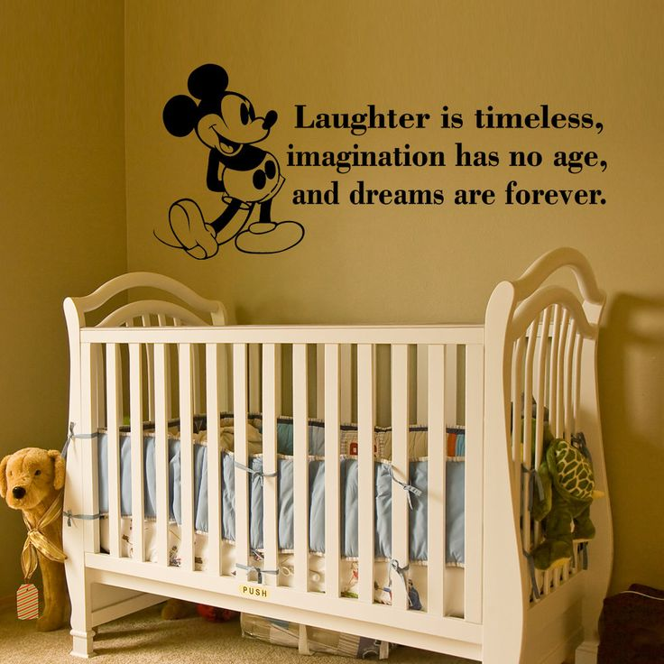 Mickey Mouse Wall Decal Quote baby room Decals by HappyWallz, $24.99