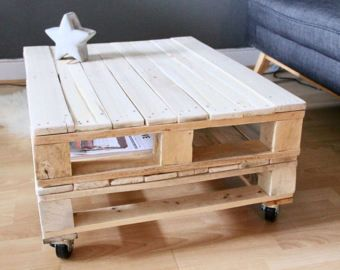 Table basse palette bricolage pinterest - Palette en table basse ...