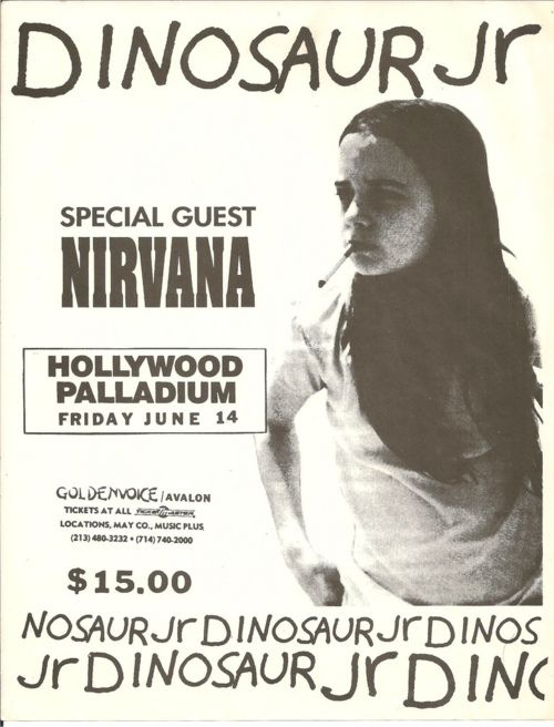 Fifteen dollars to see Dinosaur Jr. AND Nirvana?! Wish I could have seen them play together.
