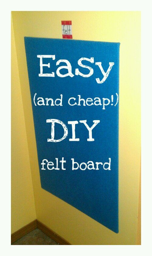Easy DIY felt board for kids! Need this. Or maybe two... Actually four smaller ones would probably be a better idea ;)