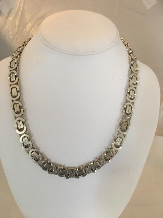 Excited To Share The Latest Addition To My Etsy Shop Amazing Industrial Heavy Duty Chain Link Vintage Heirloom Necklace Rare Poss Fine Jewelry Chain Necklace