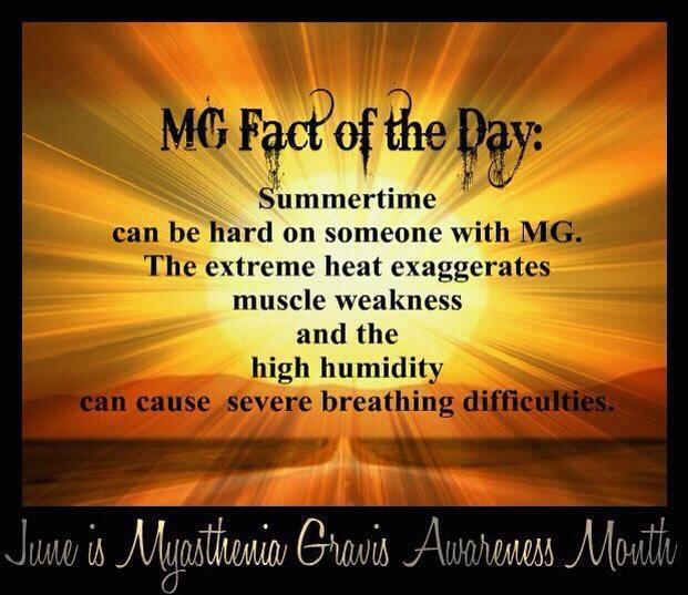 June is Myasthenia Gravis (MG) Awareness Month