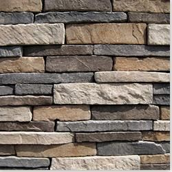 Black Bear Pallets Manufactured Stone - Stack-N-Tack Terra / Stacked Stone 6 Sq ft Flat