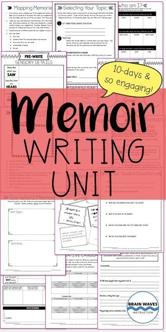This incredibly popular writing unit guides students through a study of mentor texts before they write their own memoirs.  Filled with engaging ways for students to develop topic ideas, detailed planning pages, revision mini-lessons, and editing checklists, this resource includes everything students (and teachers) need!