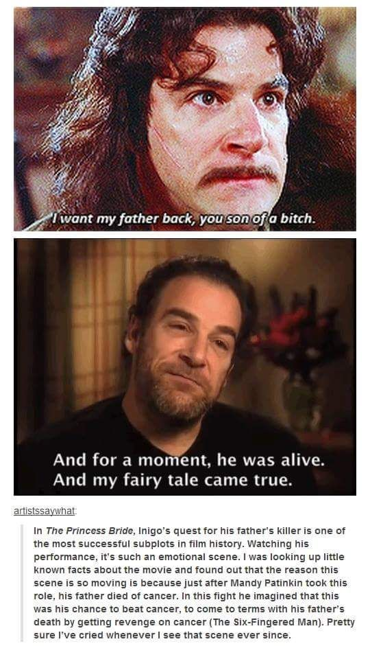 The real-life reason for the emotion behind Mandy Patinkin's climactic Princess…
