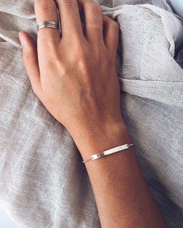 "Gold 1.5"" Skinny Bar Bracelet  Handmade Jewelry | Personalized Bracelet | Gold Bar Bracelet | Gold Stacking Bracelets | #mymadebymary | @mymadebymarywithlove via Instagram"
