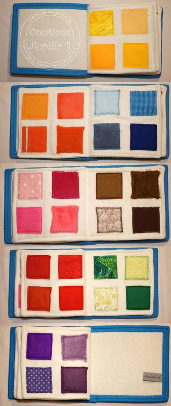 Aurélia B - Le livre d'éveil des couleurs - colors quiet book