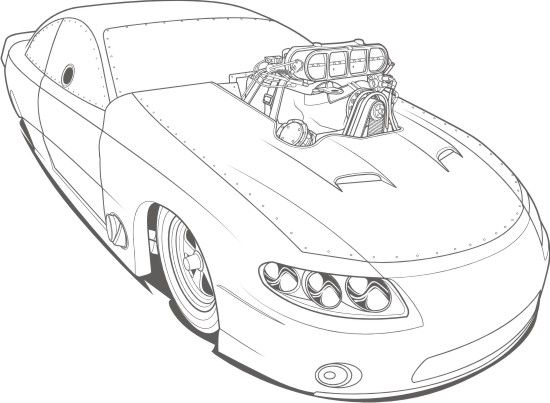 hot rod coloring pages - photo#32