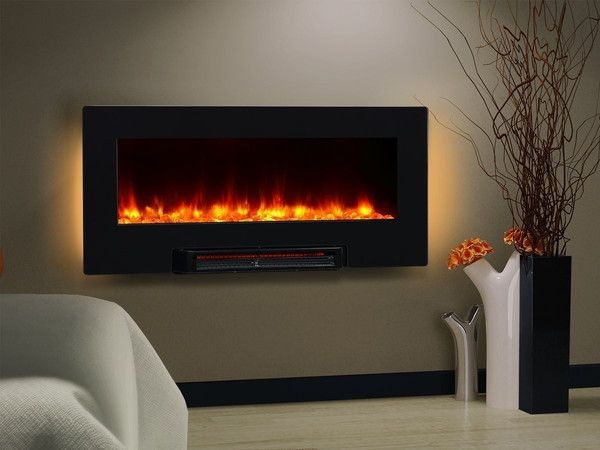 36 Quot Led Backlit Electric Heater Wall Table Fireplace