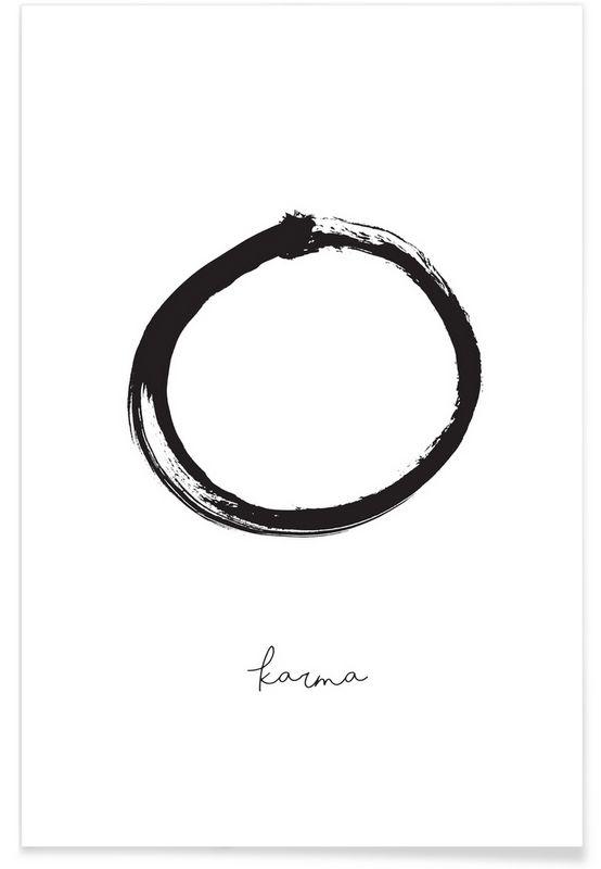 Karma als Premium Poster von Honeymoon Hotel   JUNIQE
