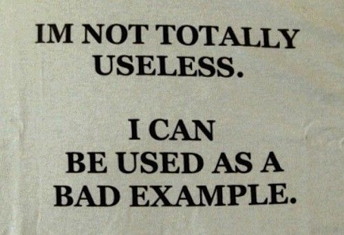 I'm not totally useless...