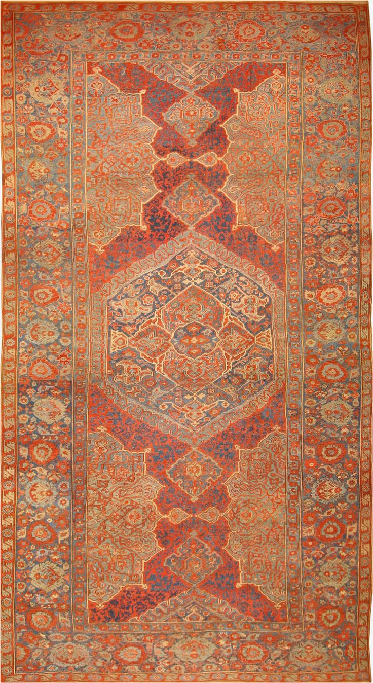 Antique Oushak Turkish Rug