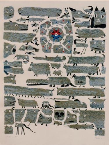 Bestiaire by Alfred Pellan (1973)