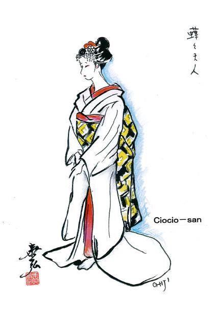 Costume sketch for Ciocio-san