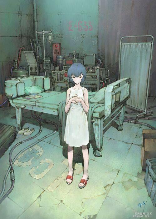 """Rei Ayanami 綾波 レイ"" by Yoshiyuki Sadamoto* • Blog/Website | ( ........... ) ★ || CHARACTER DESIGN REFERENCES • Find us on www.facebook.com"