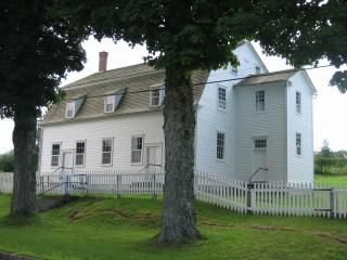 meeting house where church is held in shaker village sabbath day lake me