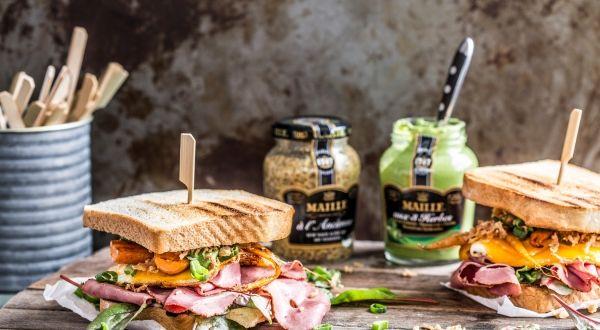 Das Sandwich mit Maille Senf völlig neu erleben. #maille #senf #aux3herbes #nachalterart