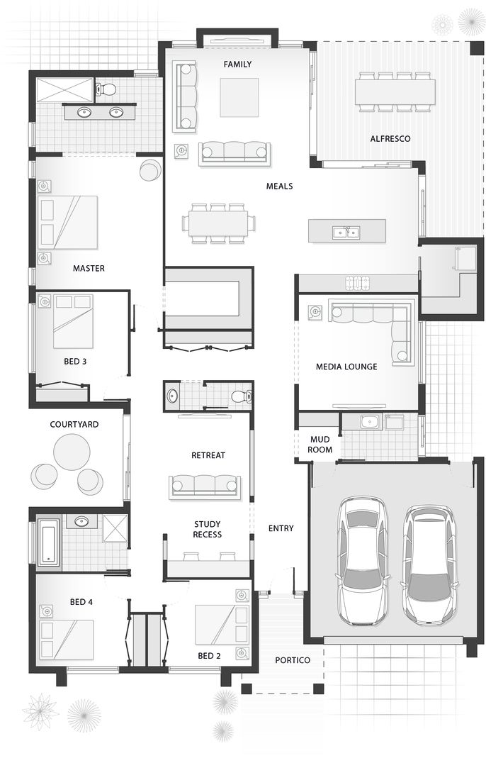 Standard floorplan for The Penn