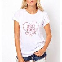 anneler gününe özel beyaz tişört model 1