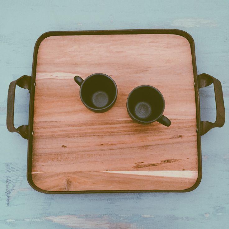 Repurposing wood and steel into this. Tray me.  #HandyBunny #Earthmade  #Handmade