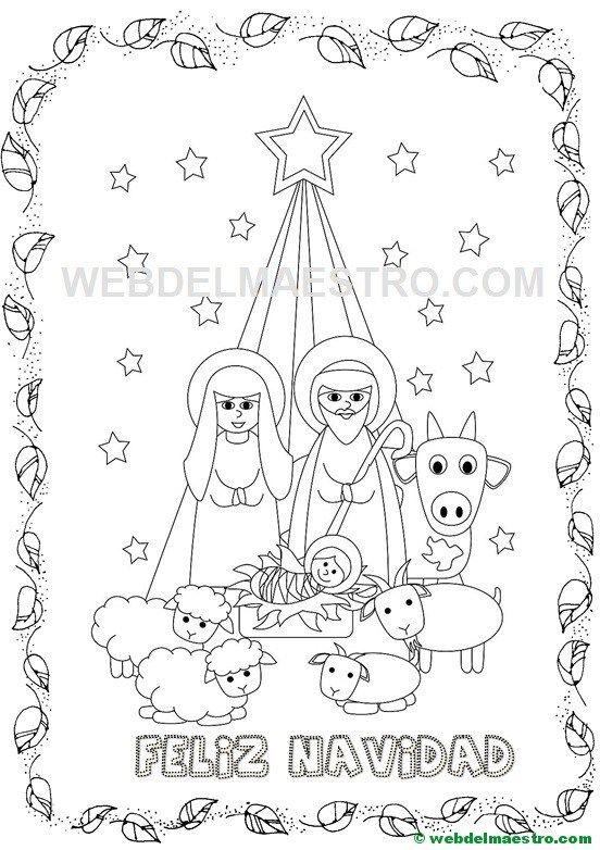 Postales y dibujos navideños para imprimir y colorear | Trabajos ...
